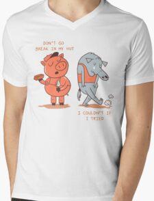 Don't Go Break in My Hut Mens V-Neck T-Shirt