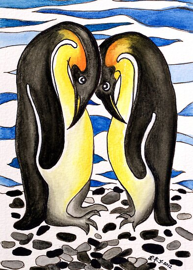 I Choose You ~ you are my penguin. by Lisa Frances Judd~QuirkyHappyArt