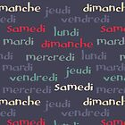 French days of the week by Morag Anderson