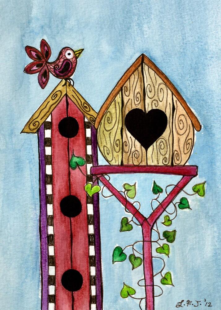Bird House ~ Sweet Spring Memories. by Lisafrancesjudd