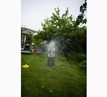 little girl watering the grass Unisex T-Shirt