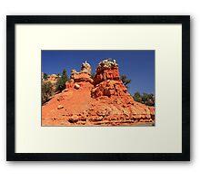 Canyon Sculptures Framed Print