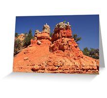 Canyon Sculptures Greeting Card