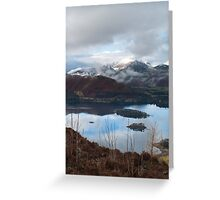 Winter over Causy Pike from Walla Crag Greeting Card