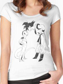 Goku & Frieza scratch Women's Fitted Scoop T-Shirt