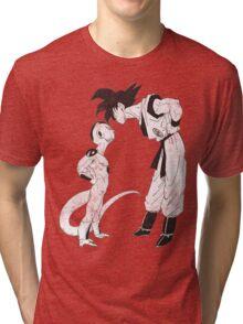 Goku & Frieza scratch Tri-blend T-Shirt