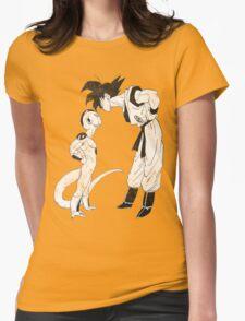 Goku & Frieza scratch Womens Fitted T-Shirt