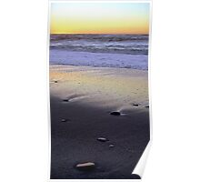 Seascape at Sunset Poster