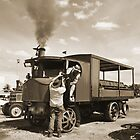 Tending to the steam engine by kathiemt