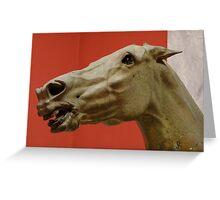 Ancient Greek Horse Head Greeting Card