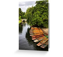 Punting On The Cam, Cambridge. Greeting Card