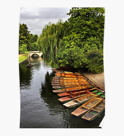Punting On The Cam, Cambridge. Poster