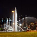 Fountains at night. by Rudi Venter