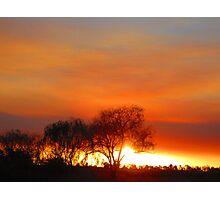 Bush Fire. Photographic Print