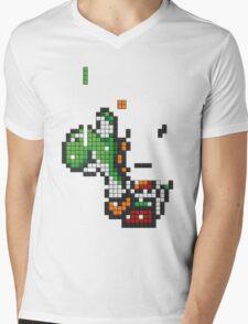 Yoshi Tetris Mens V-Neck T-Shirt