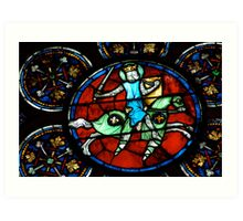 Stained Glass, Notre Dame Paris Art Print