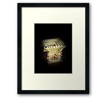 Pencil Stand Framed Print