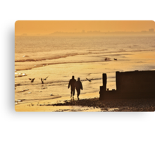 Low Tide Sunset - Hove #5 Canvas Print