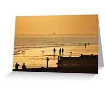 Low Tide Sunset - Hove #7 Greeting Card