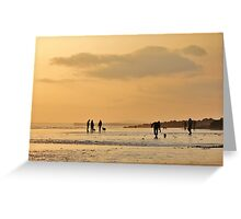 Low Tide Sunset - Hove #8 Greeting Card