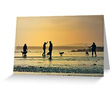 Low Tide Sunset - Hove #12 Greeting Card