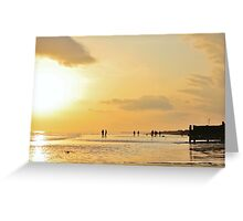 Low Tide Sunset - Hove #13 Greeting Card