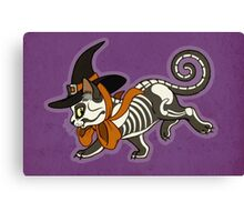 Halloween Witch Kitty Canvas Print