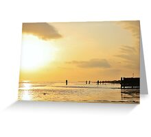 Low Tide Sunset - Hove #14 Greeting Card