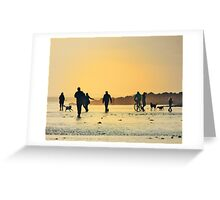 Low Tide Sunset - Hove #17 Greeting Card