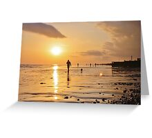 Low Tide Sunset - Hove #18 Greeting Card