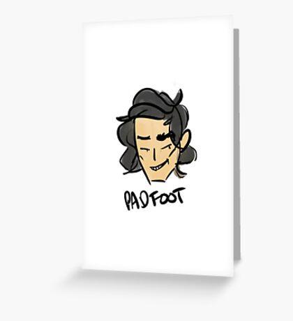 marauder padfoot Greeting Card