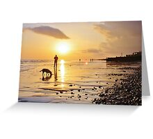 Low Tide Sunset - Hove #19 Greeting Card