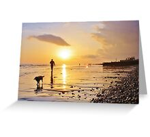 Low Tide Sunset - Hove #20 Greeting Card