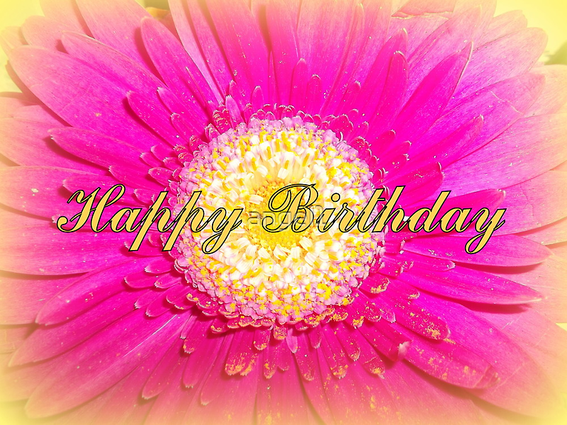 Happy Birthday ~ say it with a flower card! by ©The Creative  Minds