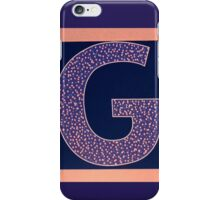 Letters of the alphabet  G iPhone Case/Skin
