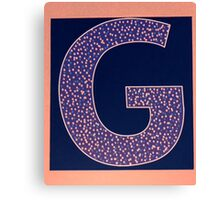 Letters of the alphabet  G Canvas Print