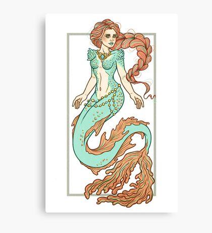 Coral Mermaid  Canvas Print