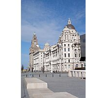 The Liver Building in Liverpool on a Sunny Day Photographic Print