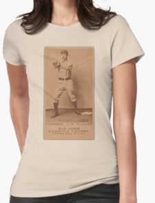 Benjamin K Edwards Collection Wally Andrews Omaha Team baseball card portrait Womens Fitted T-Shirt