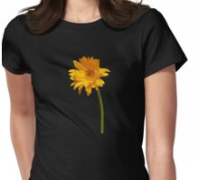 Elegant Yellow Gerbera Daisy Womens Fitted T-Shirt