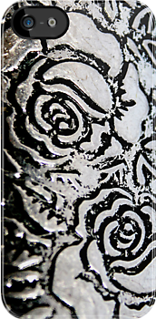 Metal roses iphone case by patjila