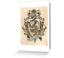 Dragon Coat Of Arms Heraldry Greeting Card