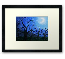 A Midnight Forest Framed Print
