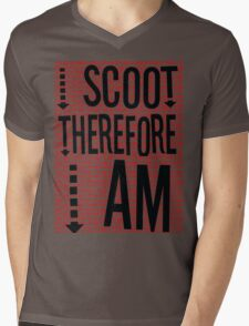 I Scoot Therefore I Am Mens V-Neck T-Shirt