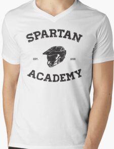 Spartan Academy Mens V-Neck T-Shirt