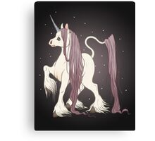 Long Haired Purple Unicorn Canvas Print