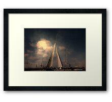 Moonlit Sails Framed Print