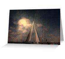 Moonlit Sails Greeting Card