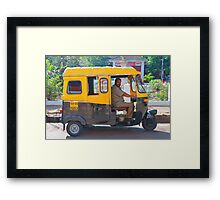 3 wheel taxi  Framed Print
