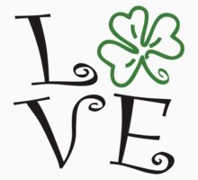 Shamrock Love - Black and Green by avdesigns